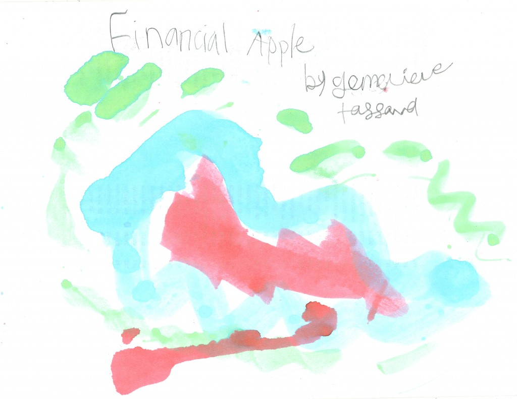 """Financial Apple"" by Genevieve"