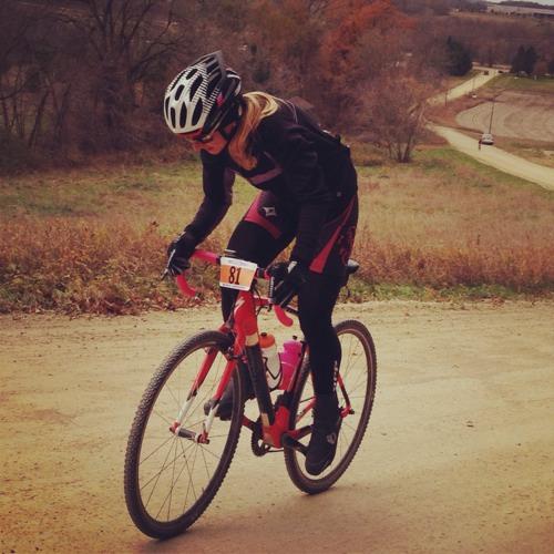 Jenna Rinehart taking the win