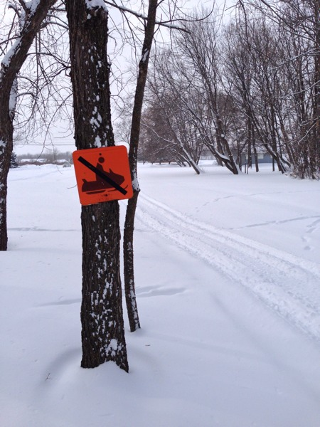 No Snowmobiles?