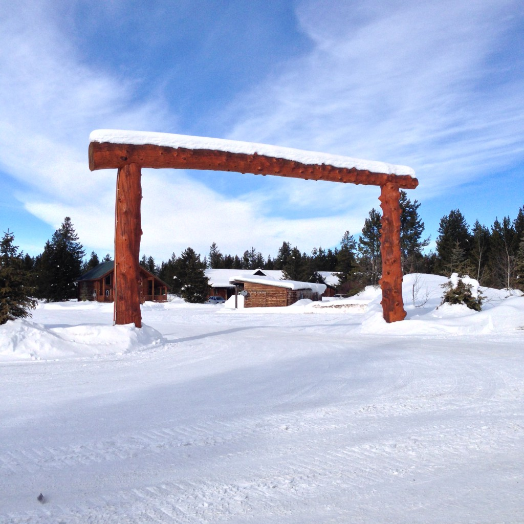 The Finish Line Arch at Ponds Lodge