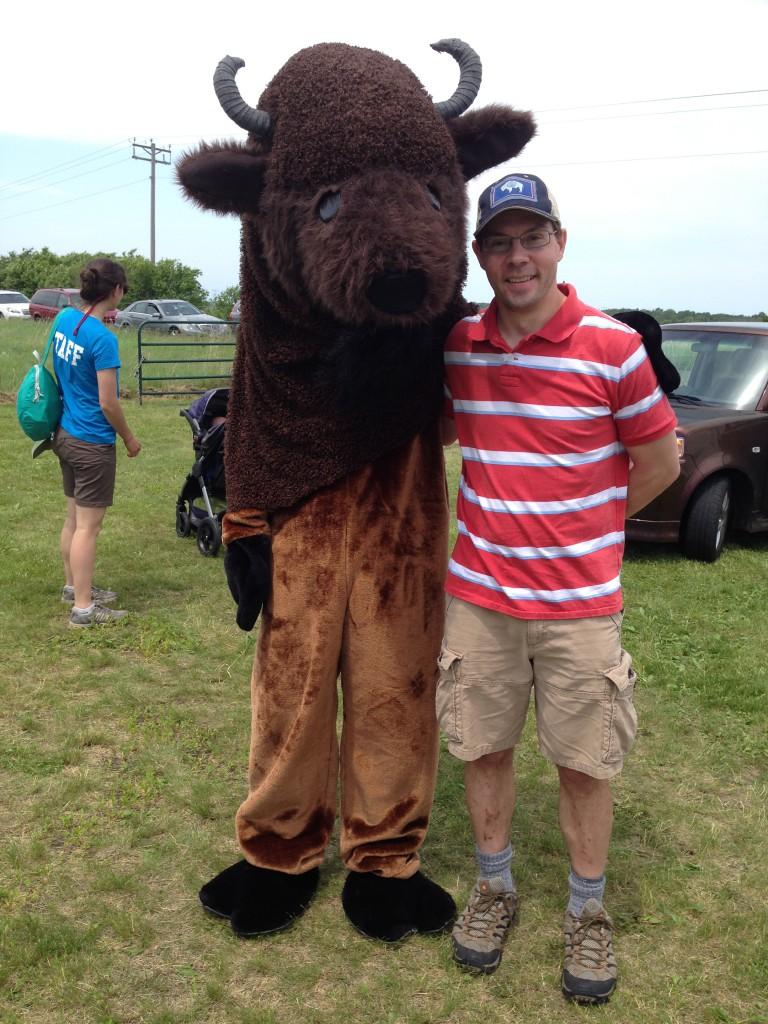 Posing with a Buffalo