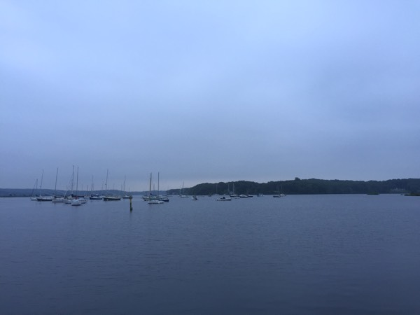 The view from the Essex Yacht Club onto the Connecticut River