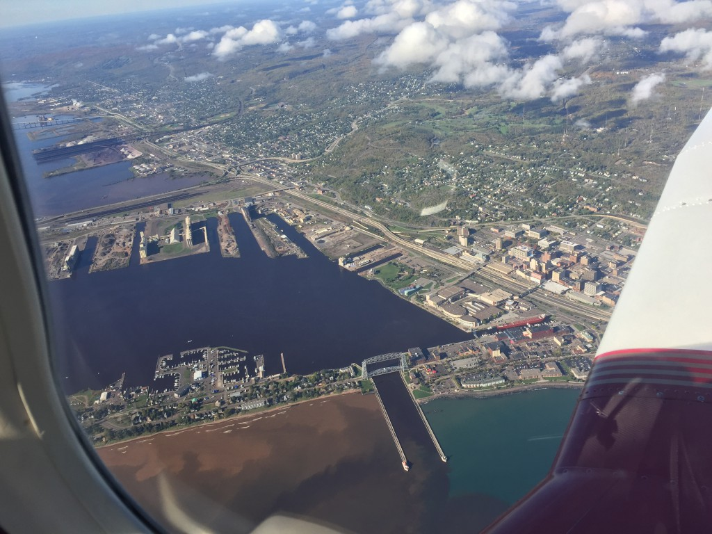 Duluth Harbor from 3,000 Feet